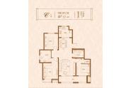 昇龙院 C户型,3室2厅2卫,127平