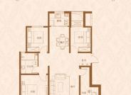 昇龙院 B户型,4室2厅1卫,119平